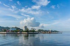 horisont av det srirachaChonburi landskapet, Thailand Fotografering för Bildbyråer
