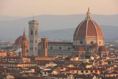 Horisont av Florence, Italien Arkivbild
