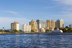 Horisont av Fort Lauderdale Arkivbilder