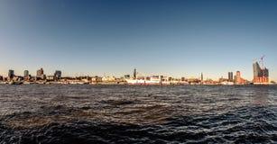 Hamburg-Panorama Arkivfoto