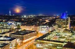 Horisont av Hannover, Tyskland Arkivfoton