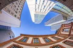 Horisont av highrisebyggnader Royaltyfri Fotografi