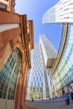 Horisont av highrisebyggnader i Frankfurt Royaltyfri Fotografi