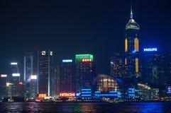 Horisont av Hong Kong Arkivfoton