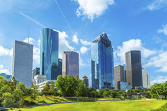 Horisont av Houston, Texas Arkivfoton