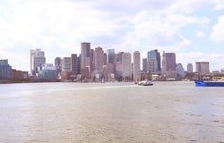 Horisont av i stadens centrum Boston Royaltyfri Bild
