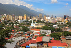 : Horisont av i stadens centrum Caracas - Venezuela