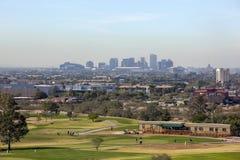 Horisont av i stadens centrum Phoenix, AZ Royaltyfria Bilder