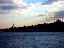 Horisont av IStambul Estambul Turquia, kalkon royaltyfri bild