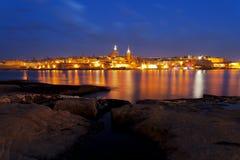 Horisont av La Valletta, Malta Arkivbild