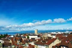 Horisont av Lausanne Royaltyfria Bilder