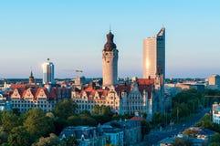 Horisont av Leipzig Arkivbild