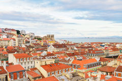 Horisont av Lissabon, Portugal Royaltyfri Fotografi