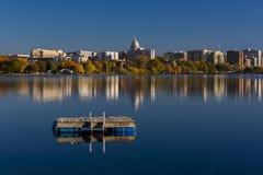 Horisont av Madison, Wisconsin arkivfoton