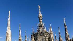 Horisont av milan från berömda Milan Cathedral Arkivbilder