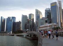 Horisont av området Singapore för central affär Royaltyfri Fotografi