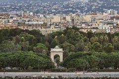 Horisont av Palermo, Sicilien, Italien Arkivfoton