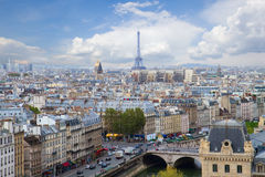 Horisont av Paris, Frankrike Arkivbilder