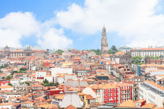 Horisont av Porto, Portugal royaltyfri bild