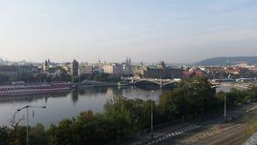 Horisont av Prag Arkivfoto