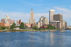 Horisont av Providence, Rhode Island Arkivbilder