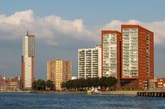 Horisont av Rotterdam i Nederländerna Arkivfoton