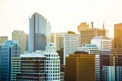 Horisont av San Francisco Royaltyfri Foto