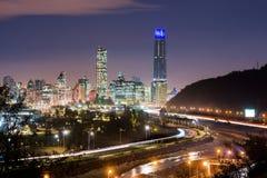 Horisont av Santiago de Chile Royaltyfria Bilder