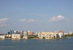 Horisont av Sarasota, Florida Arkivbild