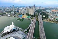 Horisont av Singapore Arkivfoton