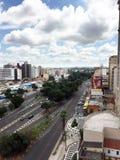Horisont av staden av Campinas Arkivbild