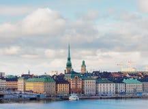 Horisont av Stockholm, Sverige Royaltyfri Fotografi
