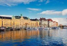 Horisont av Stockholm, Sverige Arkivbild
