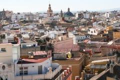 Horisont av Valencia Old Town spain arkivbild