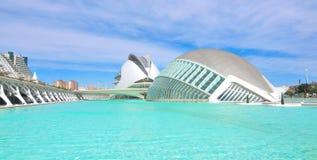 Horisont av Valencia, Spanien Arkivbilder