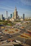 Horisont av Warszawa Polen Arkivbilder
