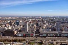 Horisont av Warszawa Polen Fotografering för Bildbyråer