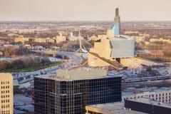 Horisont av Winnipeg arkivfoton