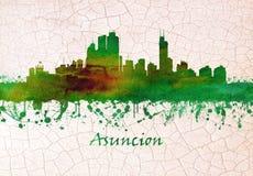 Horisont för Asuncià ³ n Paraguay royaltyfri illustrationer
