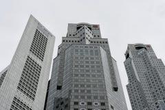 Horisont för bankbyggnader royaltyfria foton