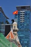 Horisont för Ho Chi Minh stad (Saigon), Vietnam Arkivbilder