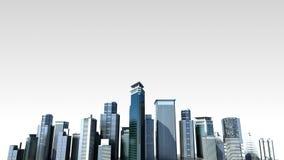 Horisont för konstruktionsbyggnadsstaden och gör staden i animering 2 lager videofilmer