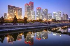 Horisont för Peking CBD Arkivbilder