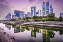 Horisont för Peking CBD Arkivbild