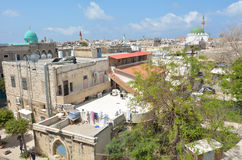 Horisont för port för tunnlandAkko gammal stad, Israel fotografering för bildbyråer