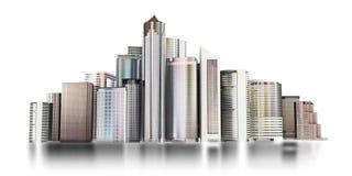 horisont för stad 3d vektor illustrationer