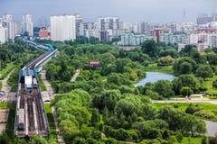 horisont för stad s Skytrain Arkivfoton