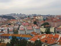 Horisont Lissabon Portugal arkivfoton