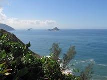 Horisont och havet royaltyfria foton