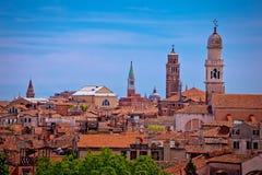 Horisont och tak av den Venedig sikten Royaltyfria Bilder
